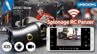 ROVER TANK - Ferngesteuerter Spionage Panzer mit Kamera & Wifi Controll
