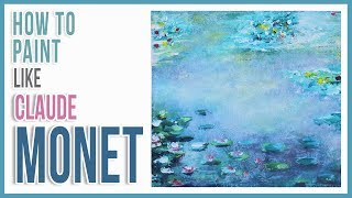 How to Paint Monet's Water Lilies with Acrylic Paint Step by Step | Art Journal Thursday Ep. 26