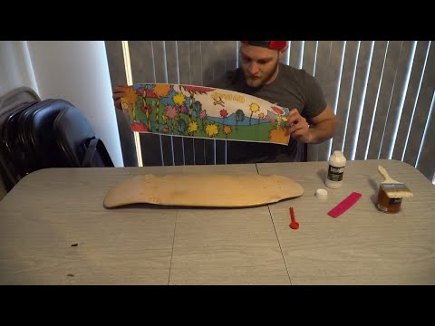 HOW TO – Carpet and Design A Skateboard – Vlog – Customize A Skateboard