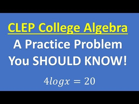 CLEP College Algebra 2019 – Can You Do This? - YouTube