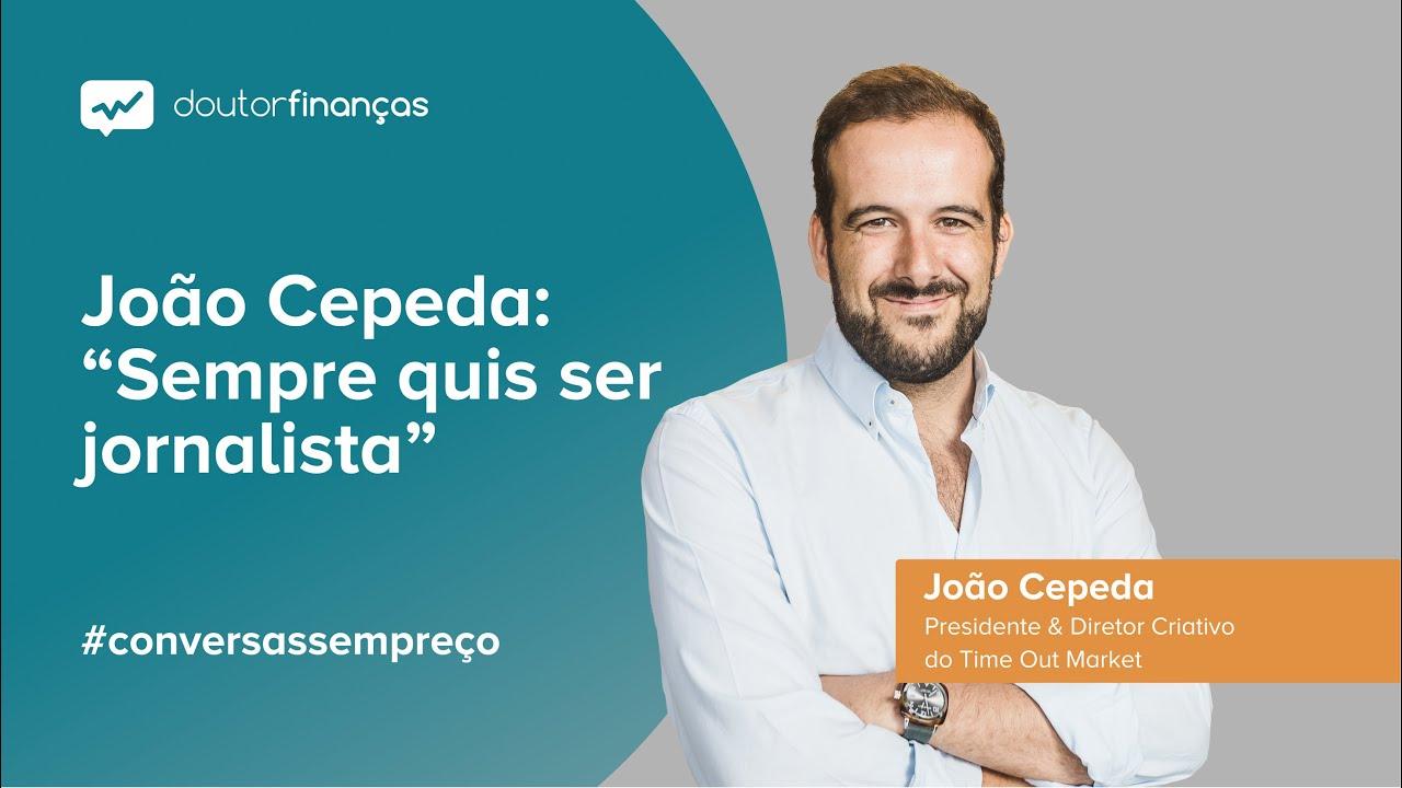 Imagem de um monitor onde se vê o programa Conversas sem Preço com a entrevista a João Cepeda, presidente do Time Out Market