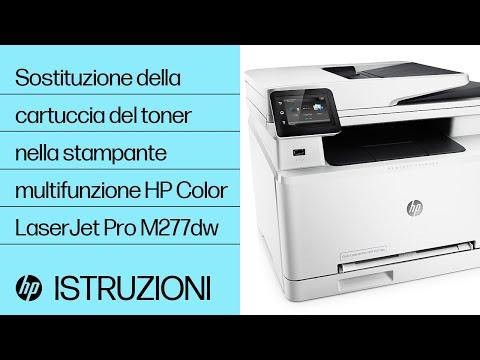 Sostituzione della cartuccia del toner nella stampante multifunzione HP Color LaserJet Pro M277dw