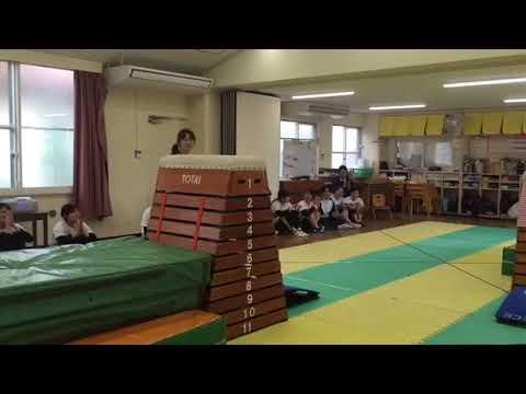 跳び箱11段 12段への挑戦 諏訪幼稚園 年長 2019年3月6日