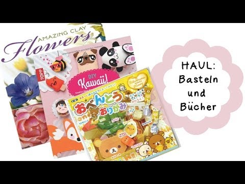 [Haul] Bastelkram und Bastelbücher/ crafting supplies and books | Anielas Fimo