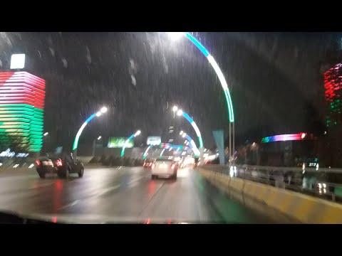 Автопрогулка по вечернему Ташкенту