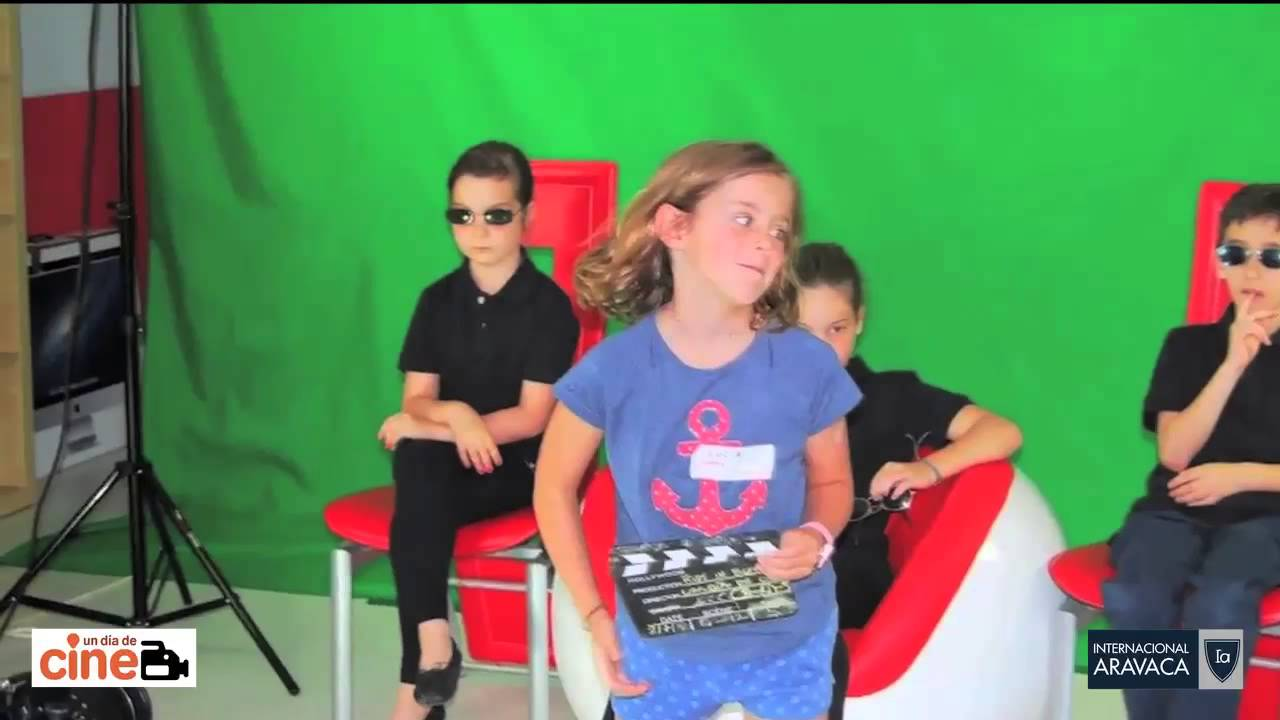 Kids in black. Behind the scenes