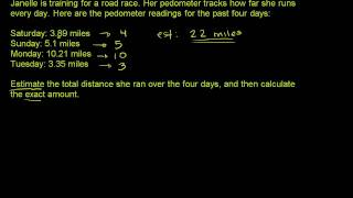 Estimation with Decimals