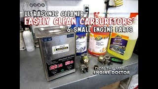 Honest Review Of My Small Engine Shop Ultrasonic Cleaner & The Cleaning Solutions I Use