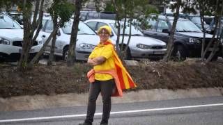 preview picture of video 'Maçanet de Cabrenys a la Via Catalana'
