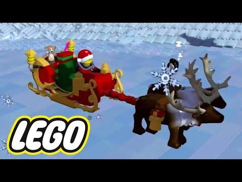 O TRENÓ E O PRIMO SECRETO DO PAPAI NOEL | Lego Worlds
