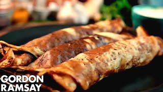 Spicy Potato Breakfast Pancakes - Gordon Ramsay - dooclip.me
