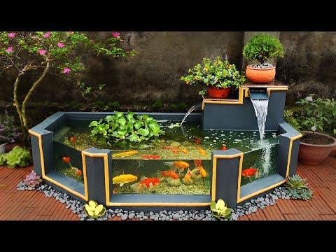 Garden Design Ideas - Turn Ugly Garden Corner Into a Beautiful Waterfall Aquarium Garden