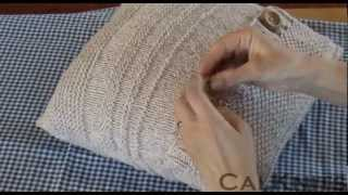 Sewing Up Your Knitted Textured Stripe Cushion