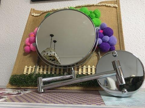 Espejo maquillaje giratorio, extensible, dos caras, 10x, 1x Cozzine + Descuento