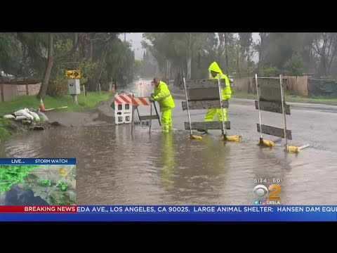Thomas Fire Burn Area Hit With Rain, Flooding During Storm
