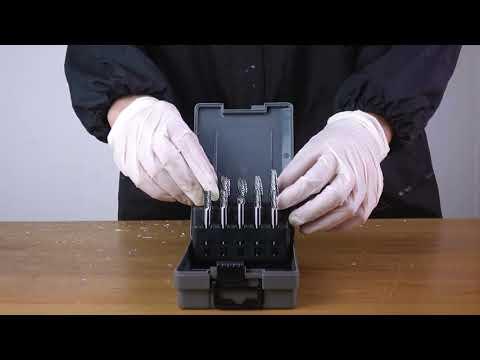 FindBuyTool Carbide Burrs OMNI Set 01 1/4 Shank, 10Pcs