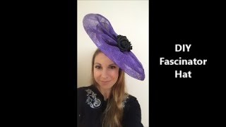 How To Make A Sinamay Fascinator Base Free Form Without Hat Block - Millinery DIY Tutorial