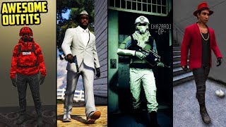 GTA Online 22 AWESOME OUTFITS! (Air Pilot, PUBG, The Law Escapee & More)