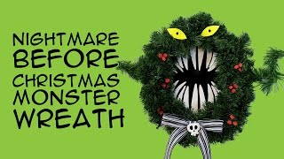 DIY Disney Nightmare Before Christmas Monster Wreath: (for Disney Fans) CraftyMcFangirl.com Tutorial