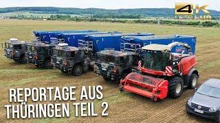 Agrar-GmbH Oldisleben: Konventioneller- und Bio-Ackerbau auf 3700 Hektar (Grünfutterernte / Teil 2)
