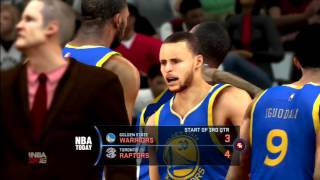 NBA 2K16 Golden State Warriors Vs Toronto Raptors PS3 HD