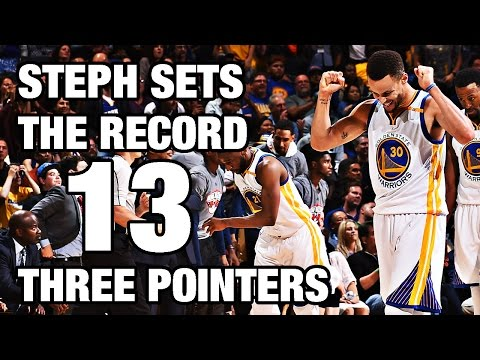 Steph Curry's Record Breaking 13 3-Pointers