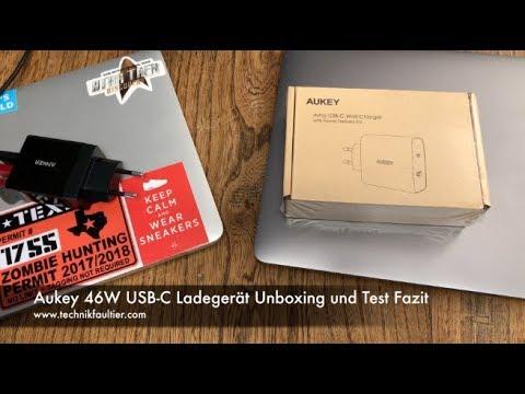 Aukey 46W USB-C Ladegerät Unboxing und Test Fazit