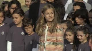 Salida de la Familia Real del acto de Bienvenida a Asturias
