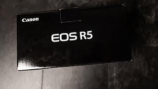 Canon EOS R5 Unboxing   Stimmt Das Gerücht Mit Der Speicherkarte? Erster Eindruck