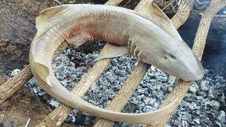 Cá Mập Nướng Kiểu Dân Du Mục Mông Cổ .Ẩm Thực Sinh Tồn . Skill Survival : Sharks roast nomads