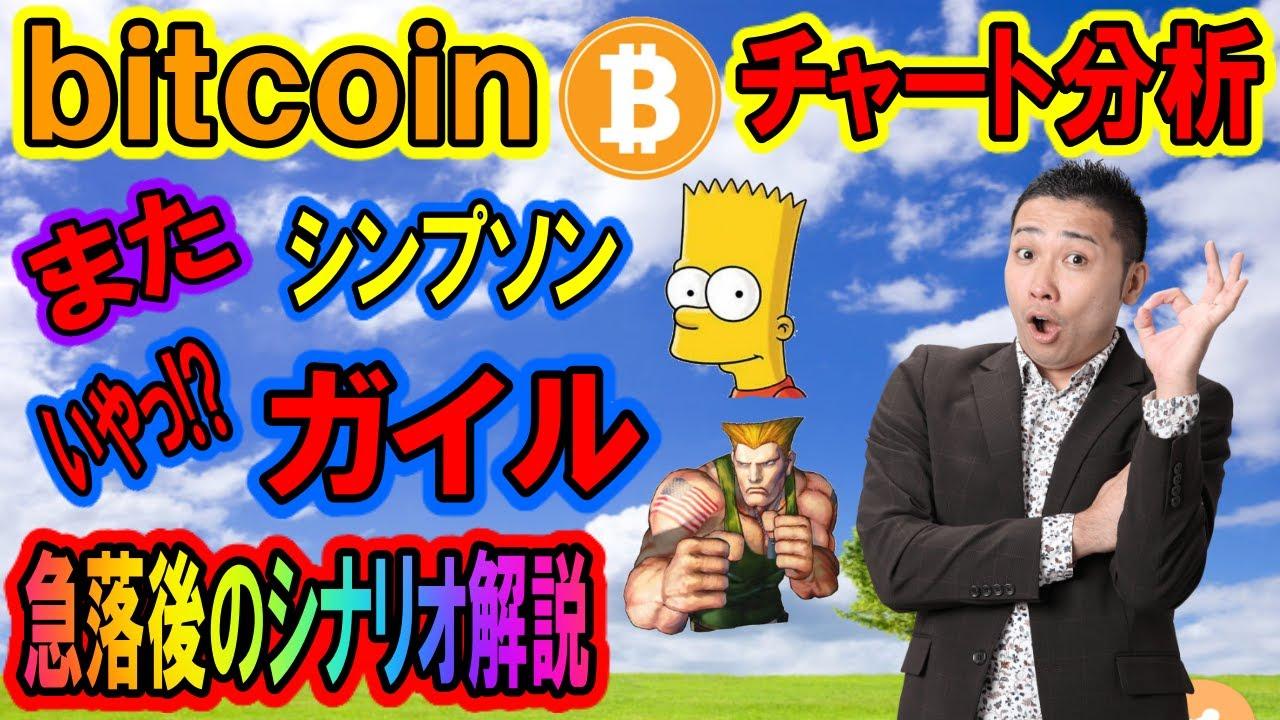 【仮想通貨】ビットコイン相場分析 またまたシンプソン(ガイル)チャートか・・・4時間足の三尊が次のポイント!! #ビットコイン #仮想通貨 #BTC
