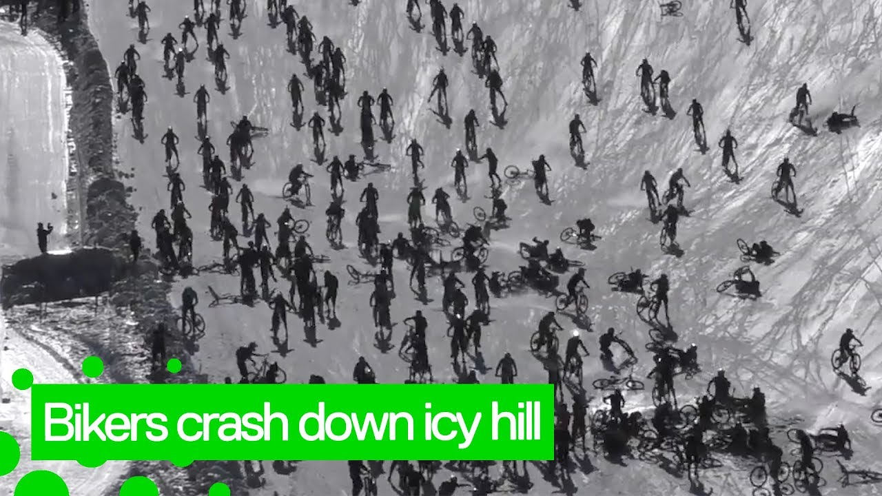 ڤیدیۆ.. ترسناکترین پێشبڕکێی پاسکیل سواری