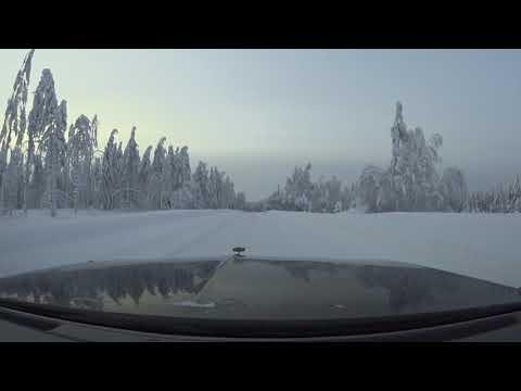 Finnish winter. Pikku pätkä lumisessa Kainuun korvessa ajelua. 21.1.2018.