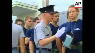USA:  WOMEN RECRUITS SPEND FIRST WEEK AT THE CITADEL MILITARY SCHOOL