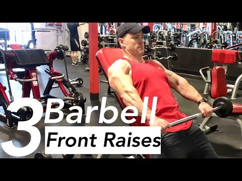 Seated Barbell Front Raise