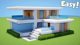 Minecraft: How To Build A Small & Easy Modern House Tutorial (#23)