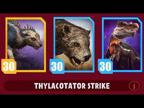 TYRANNOSAURUS REX Vs MARSUPIAL LION LEVEL 30 - Jurassic World Alive