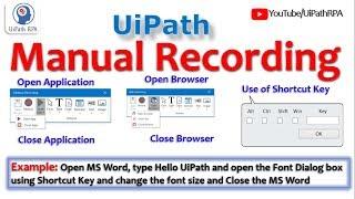 word automation using uipath - मुफ्त ऑनलाइन
