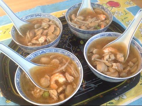 CÓMO HACER SOPA CHINA DE POLLO Y CHAMPIÑONES - Chicken and mushroom Chinese Soup