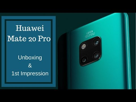 Huawei Mate 20 pro Unboxing & 1st Impression: Samsung S9 no match!