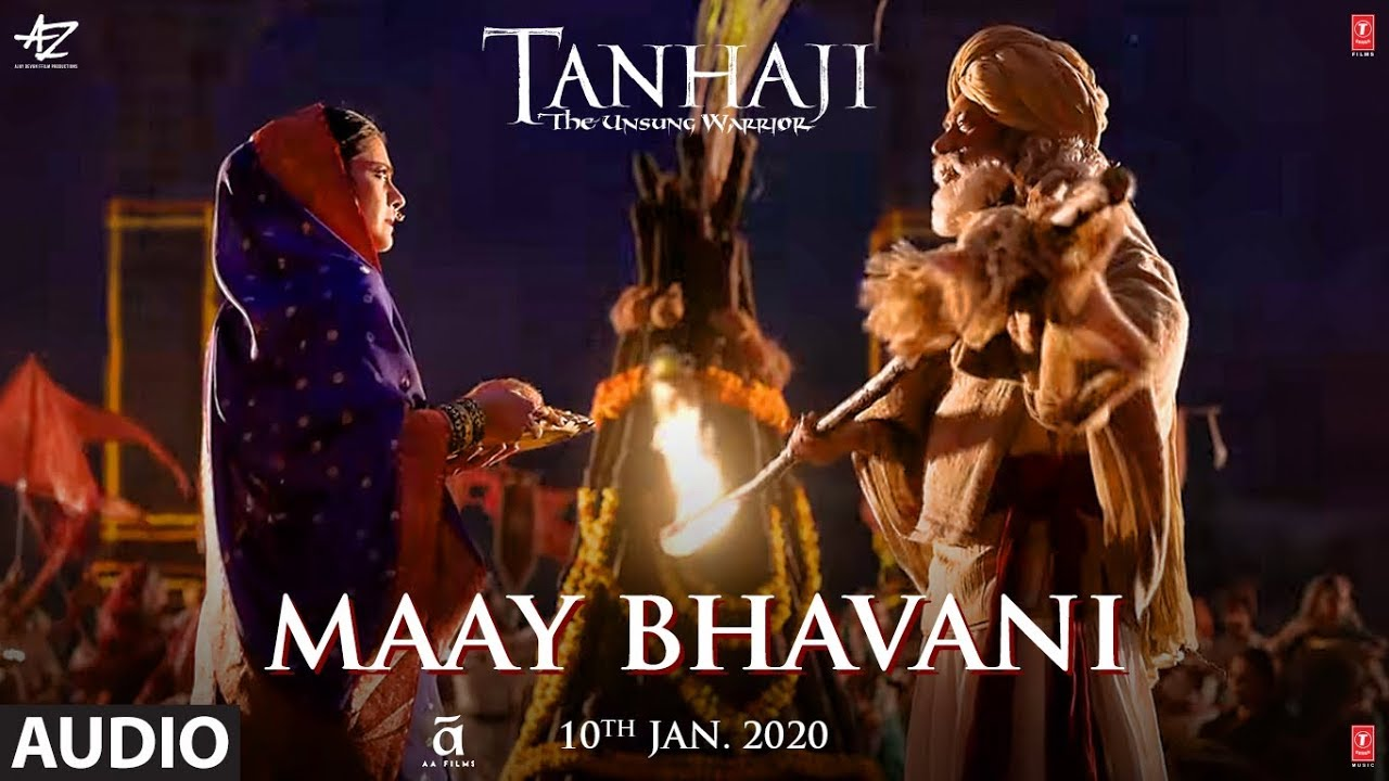 Maay Bhavani | Tanhaji: The Unsung Warrior | Ajay, Kajol | Sukhwinder S, Shreya G - Sukhwinder Singh, Shreya Ghosal Lyrics