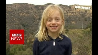 Maisie Sly : Six, deaf and going to the Oscars - BBC News
