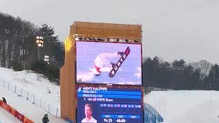 現地映像★ショーンホワイト選手スノーボード男子決勝★金メダル獲得の三本目のRUN平昌オリンピック