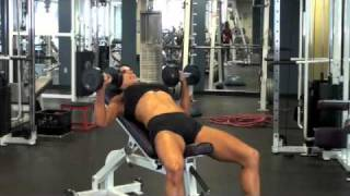 Calgary Fitness - Inclined Dumbbell Press