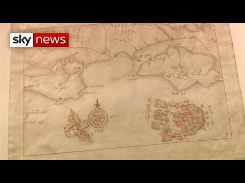 Hand drawn Spanish Armada maps will be seen after 100 years in storage