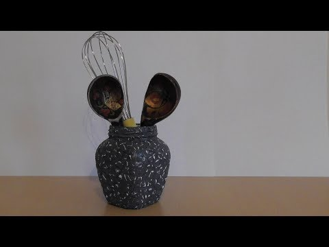Egg shell jar decor / Декор банки яичной скорлупой