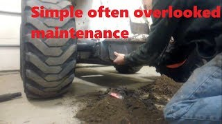 bobcat 763 foot pedal area clean out shocking