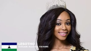 Rethabile Tsosane Contestant from Lesotho for Miss World 2016 Introduction