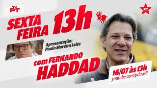 #aovivo | Paulo Moreira Leite entrevista Fernando Haddad para uma conversa sobre Brasil e São Paulo.