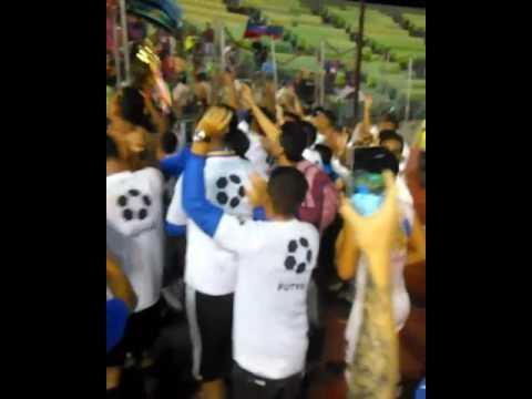 """""""Guerreros Chaimas y Monagas SC celebrando"""" Barra: Guerreros Chaimas • Club: Monagas"""
